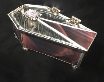 Purple Passion - Stained Glass Coffin Box