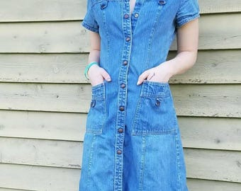 Rare 1970's Landlubber Denim Dress