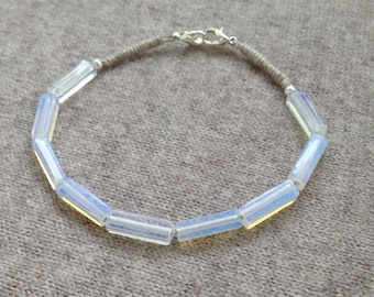 Bracelet white silver Mint Opal way 3