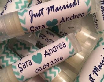 Wedding Favors, Just Married Favors, Lip Balms Wedding Favors