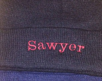 Personalized Embroidered Knitted Cuffed Hat
