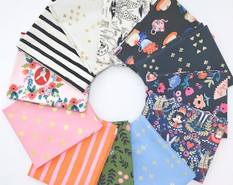 Fat Quarter Bundle Wonderland by Rifle Paper Co. for Cotton and Steel- 12 Fabrics