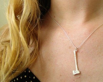 Sterling Silver Axe Necklace
