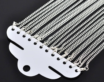 "Necklace chain 46cm (18 ""), 62cm (24"") or 78cm (30 "") mesh 2x3mm"
