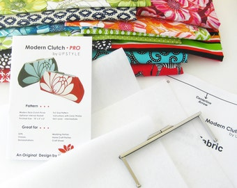 NEW - Stashbuster Kit for Modern Clutch - PRO - Includes Purse Frame, Pattern, Instructions, and Inner Layers - by UPSTYLE
