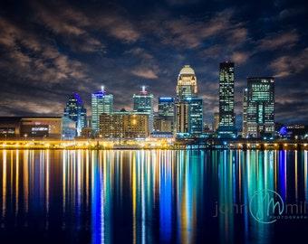 Louisville Skyline, Louisville, Louisville Kentucky, Louisville Art, Fine Art Print, Wall Art, Canvas Wall Art, Louisville Ky, Second Street