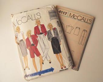McCalls 4117 Vintage 80s Separates Pattern
