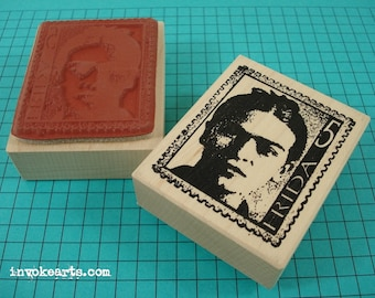 Frida Post 5 Stamp / Invoke Arts Collage Rubber Stamps