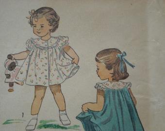 Adorable vintage 1949 Simplicity pattern - Child's dress & panties