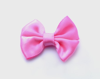 SALE! 20pcs Mini Nylon Ribbon Bows in Pink, Gift Packaging Accessory, Hair Accessory #SD-S6941