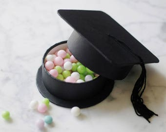 Set of 10 - Class of Graduation Hat Party Favor GIFT BOXES
