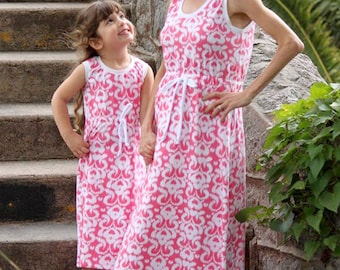 Mommy and me - Rinna's dress - size ranges XS to XXL (women) and 1 to 10 years (girls)