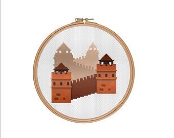Xstitch pattern, Great wall of China, China Great Wall, Chinese cross stitch, China cross stitch, Asian cross stitch, Easy cross stitch, PDF