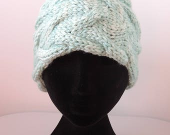 Hand Knit, Chunky Cable Headband