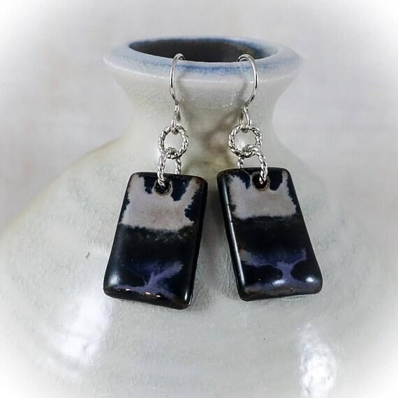 Rothko Inspired - Art Tile Earrings 8