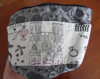 COSMETIC case for the little black dress with pockets