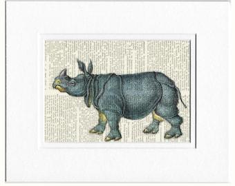 Rhino dictionary page print