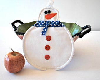 Snowman Pot Holder, Home and Living, Kitchen Dining, Cookware Hot Pad, Trivets Pot Holders, Oven Mitts, Mug Rug, Holiday Gift Ideas