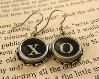 Custom Vintage Typewriter Earrings your choice of letters