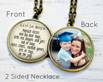 MOTHER/SON Necklace - Gifts for mom from son - Boy Mom - Mom Necklace - Jewelry for Mom - Personalized Mom Necklace