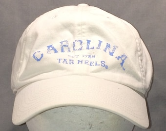 Vintage Baseball Cap College Hats University Of North Carolina Tar Heels Distressed Hat Unstructured Fitted Ball Cap Size L Hat T88 M8098