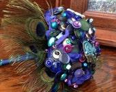Peacock Button Bouquet...