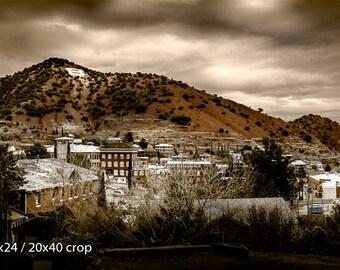 Bisbee Arizona Old Town B Mountain Color Vintage