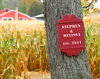 Personalized Farmhouse Decor, Farm Wall Art,  Custom Country Decor, Autumn Decor, Farmer Gifts, Autumn Wedding Gift, Housewarming Gift