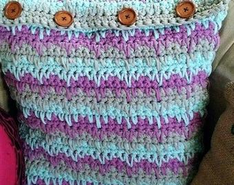 crochet pattern, pillow cover crochet pattern