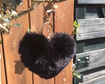 Bag/Sleutelhanger fluffy Heart love free shipping within NL