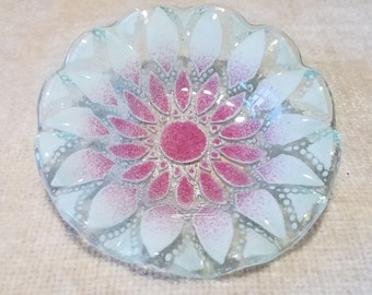 Vintage Sydenstricker Fused Art Glass Dish Cape Cod