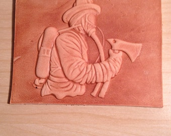 Firefighter wallet  embossing plate for Arbor Manual or Hydraulic press. (Delrin laser engraved embossing)