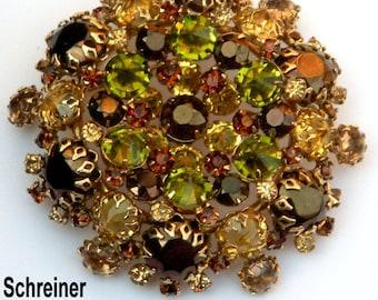Signed Schreiner Vintage Brooch or Pendant