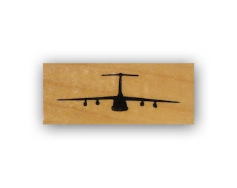 C-5 Military Plane Mounted rubber stamp, USAF, Air Force, aviation, C5 transport, Crazy Mountain Stamps #4