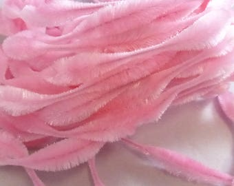 Vintage Retro Bump Chenille Bright Pink 3 inch Bump 1 yard  NOS