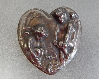 Chilly Cupids Sterling heart pendant and brooch