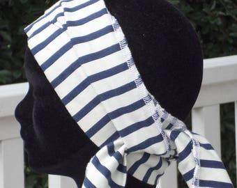 headband scarf woman sailor stripes was