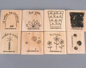Stampin Up Fun Filled- set of 8 rubber stamps