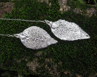 whimsical sterling silver laurel leaf necklace VINTAGE  bohemian dryad woodland