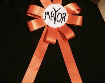 Nightmare Before Christmas Mayor Ribbon