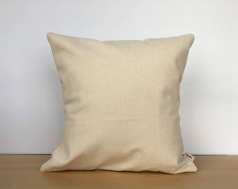 Blank canvas pillow, canvas pillow, throw pillow, accent pillow, blank pillow, plain pillow, solid pillow, canvas pillow cover