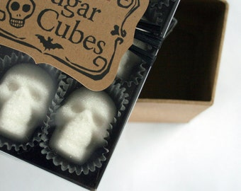 "Sugar Cube Skulls ""the original"" since 2010 // 9-pk sugar skulls // sugar cubes // Gothic Valentine // ""Coffee lover Gift"" / Valentine skull"