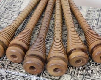 Vintage Wooden Spools/ Bobbins/Craft Supplies and Tools/ Fiber & Textile Art Supplies/ Decorative (010C)