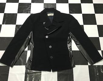 Vintage Issey Miyake blazer suit leather black Good condition
