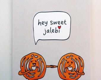Funny Indian Food-inspired Greetings Card - Jalebi