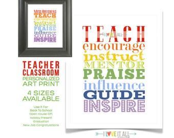 TEACHER Appreciation Gift, Teacher Gift, Teacher Printable, Classroom Decor, Gift for Teacher, Thank You Teacher, Personalized