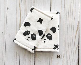 Teething Suck pads for the Baby Carrier Panda / Panda suckpads / roadtrip / Monochrome suckpads /droolpads / chewpads