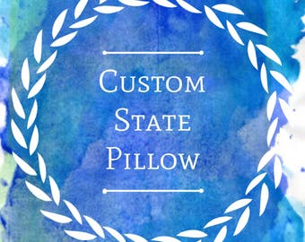 Custom State Pillow