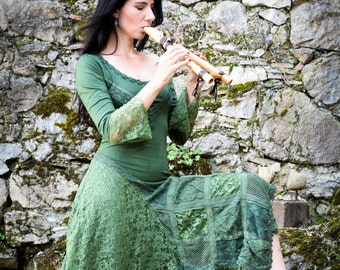 Dream Medieval dress, princess dress, Gypsy bohemian dress, Boho dress, Bohemian dress, romantic lace dress, psychedelic festival dress