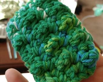 Crochet little nubby scrubbies